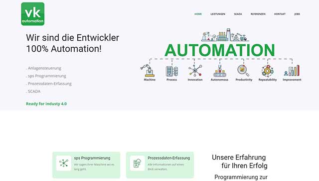website singen vk automation
